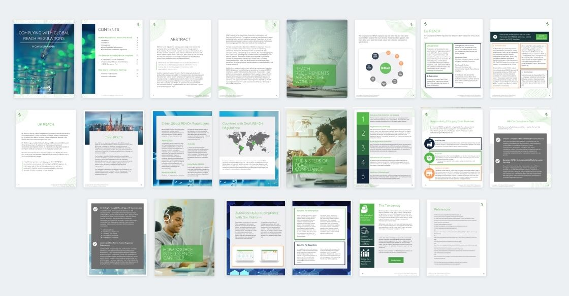 Complying With Global REACH Regulations White Paper Spread