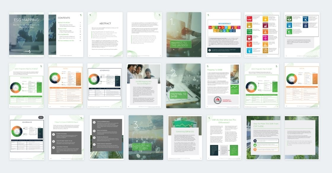 ESG Mapping White Paper Spread